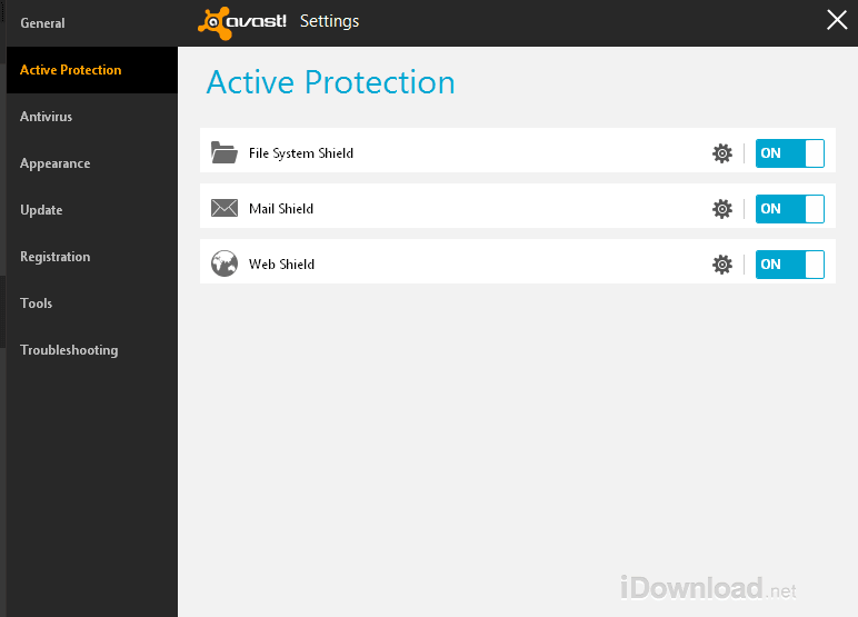 Download Avast Free Antivirus with active protection for Windows