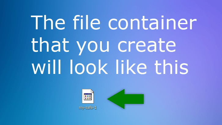 You just created the container file