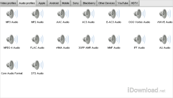 Convert your audio easily with presets