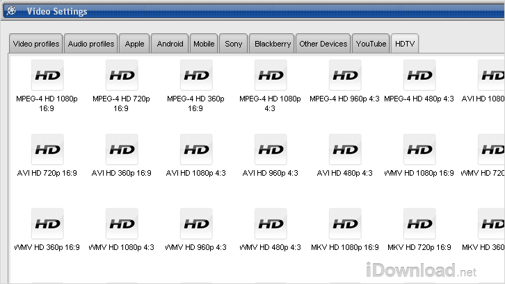 Converting your videos compatible for HDTV and different aspect ratios