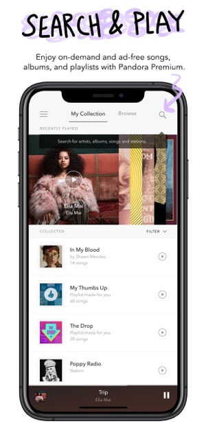 Pandora Music music app screenshot