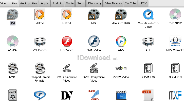 Screenshot of Video to Video Converter